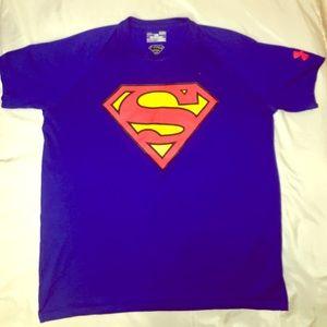 Under Armour Men's Superman Heat Gear T- shirt